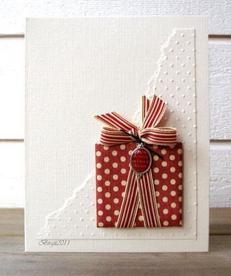 Christmas package card, but I think it'd be cute on a scrapbook page as well, with more in different shapes/sizes
