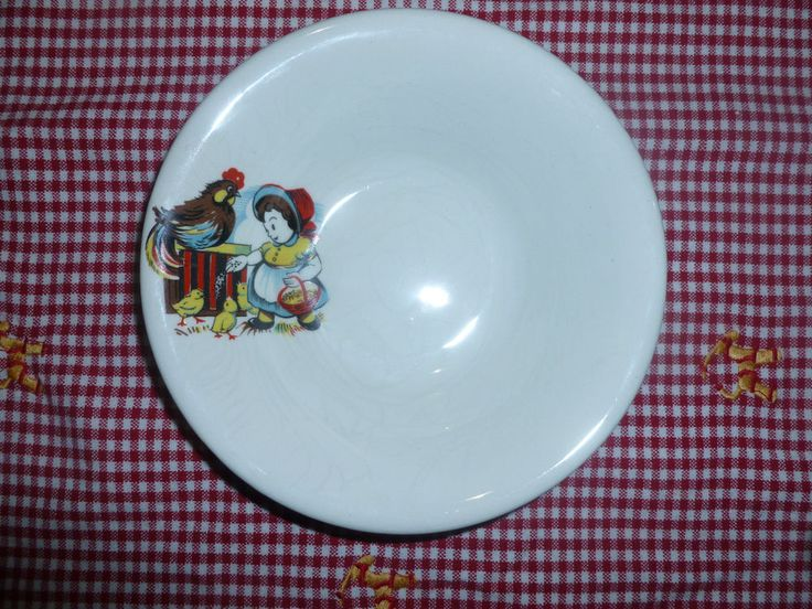 Tams 1960's Nursery Ware Child / Baby Breakfast Bowl