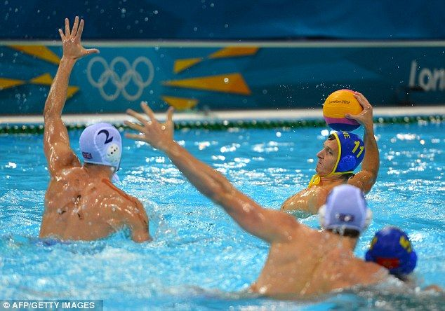 Bowing out: Team GB men's water polo team slumped to their fifth successive defeat