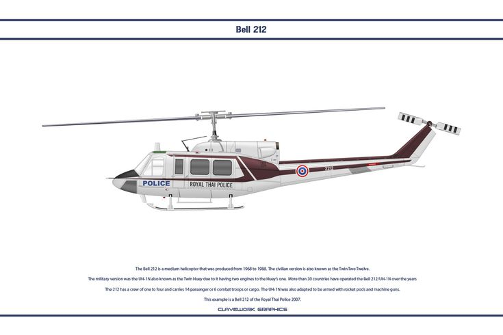 Bell 212 Thailand 3 by WS-Clave