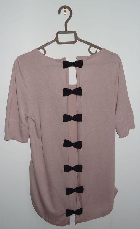 comment faire d 39 un simple tee shirt une pi ce unique et sophistiqu e un tee shirt dos nu orn. Black Bedroom Furniture Sets. Home Design Ideas