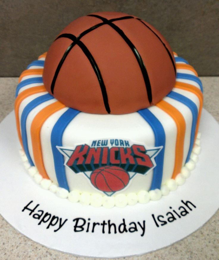 Basketball / NBA - New York Knicks Birthday Cake.