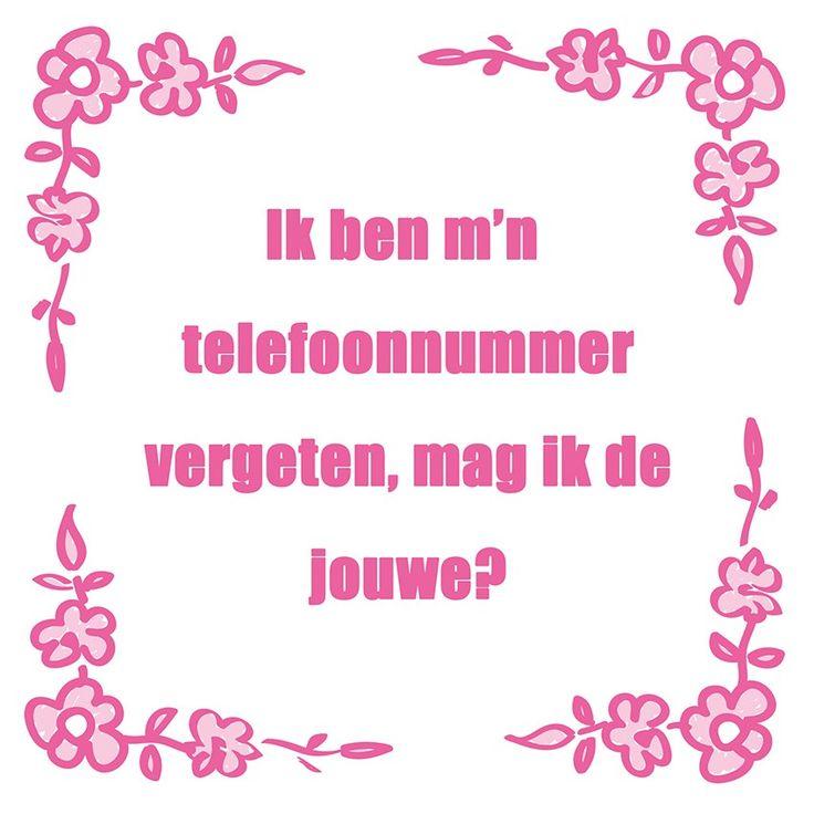 Tegeltjeswijsheid.nl - een uniek presentje - Ik ben mijn telefoonnummer vergeten