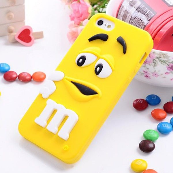 Cute 3d MM's Soft Rubber Chocolate Candy Silicone Back Case for iPhone 5/5S/5c/4/4s, Samsung GALAXY S4 i9500/S3 i9300/Note 3