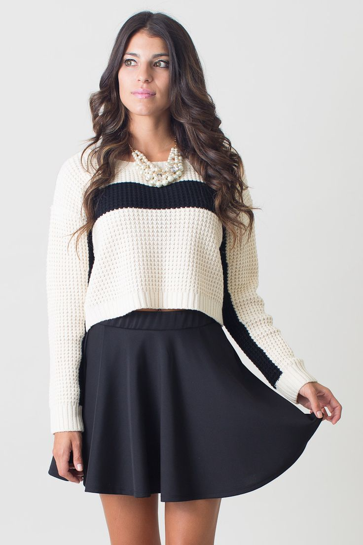 Varsity Girls Cropped Sweater Top, Nectar Clothing