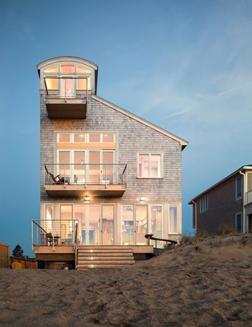 contemporary asymmetrical beach house by cbt architectus
