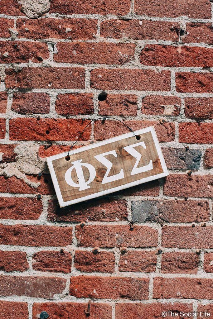 Phi Sigma Sigma Letters Sign
