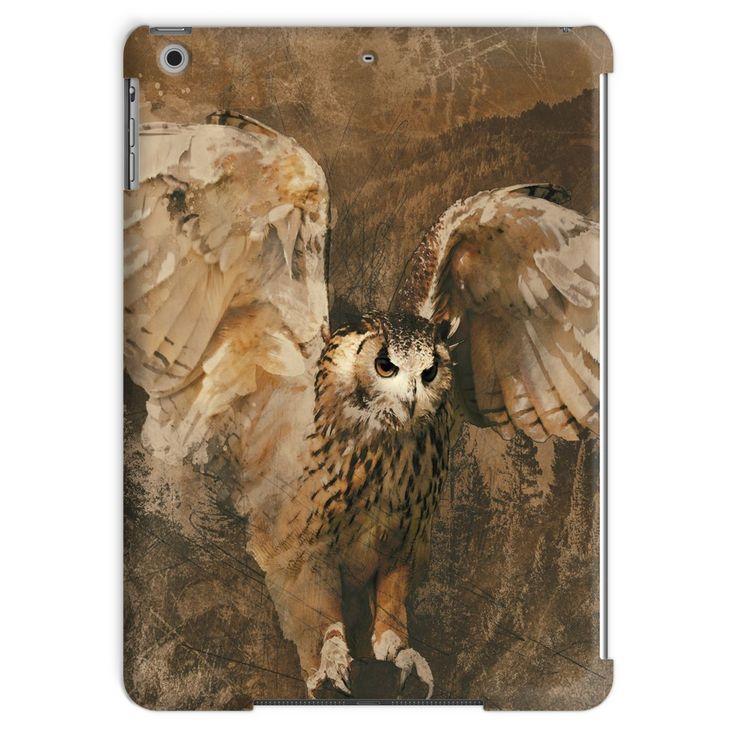 Owl in Flight by Artist Brigitte Werner Tablet Case