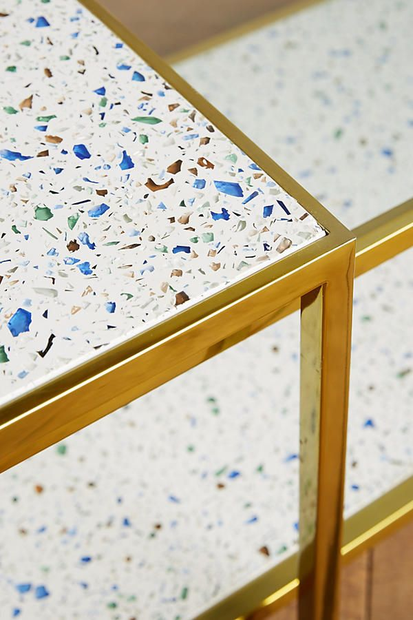 Slide View: 2: Framed Terrazzo Coffee Tables