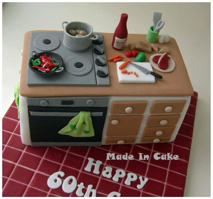 17 best images about kitchen theme cakes on pinterest for Cupcake themed kitchen ideas