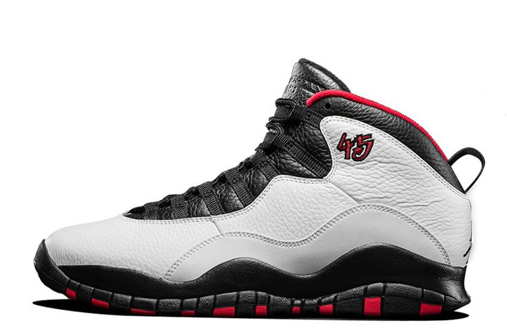 Nike Air Jordan 10 X Retro Double Nickel Chicago 45 White Black Red