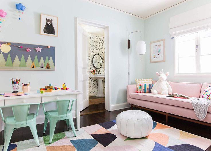 Office Playroom, Playroom Design, Playroom Decor, Playroom Ideas, Colorful Playroom, Vintage Playroom, Playroom Colors, Playroom Furniture, Playroom Organization