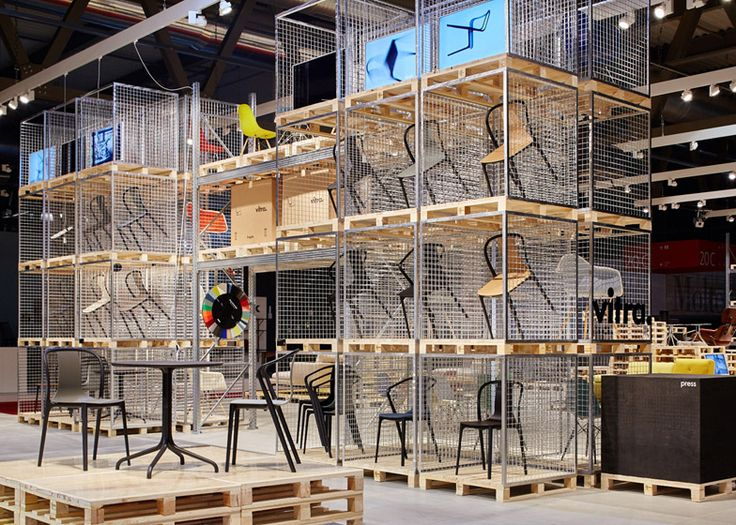Schemata make Vitra's Salone stand from wooden pallets