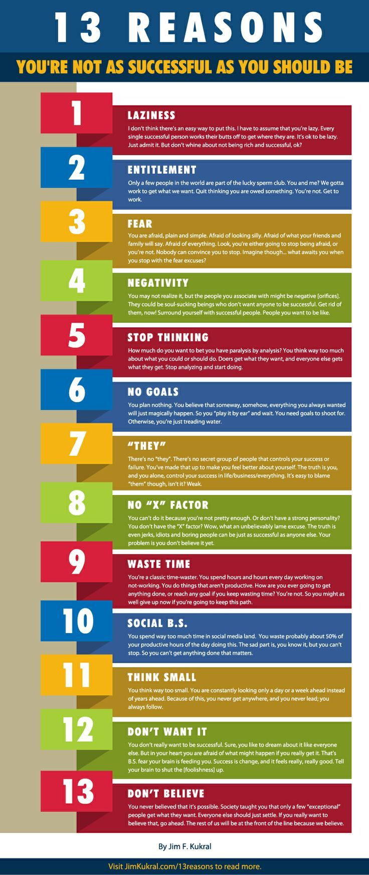 13 Reasons You Aren't As Successful As You Should Be #SmallBusinessSuccess Small business success tips #success