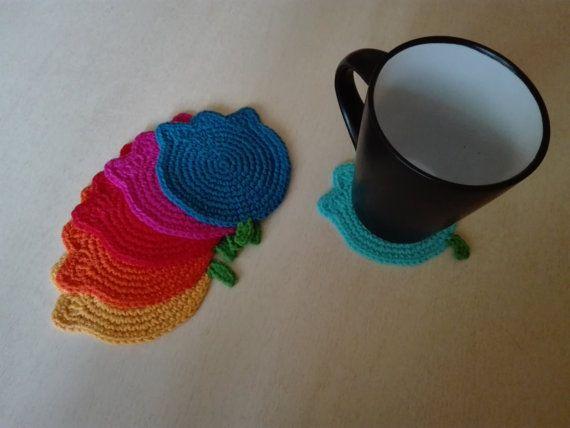 Crochet coasters  Tulips by kaizerka on Etsy