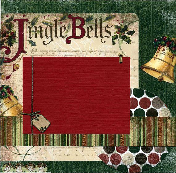 Jingle Bells - Premade Christmas Scrapbook Page $15.95