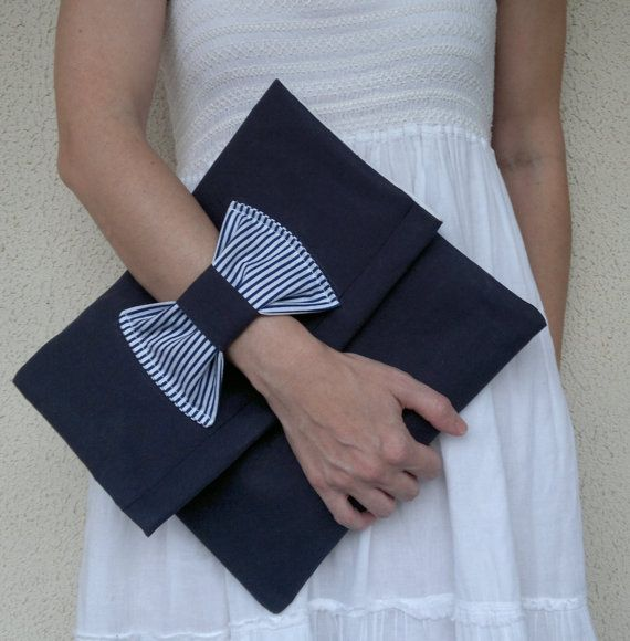Bow envelope clutch. by thepinqueenshop on Etsy, €25.00 Love it!  And love LV here: lovelouisvuittonshome.com