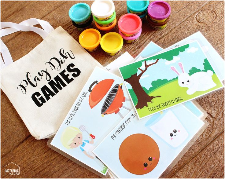 play doh busy bags