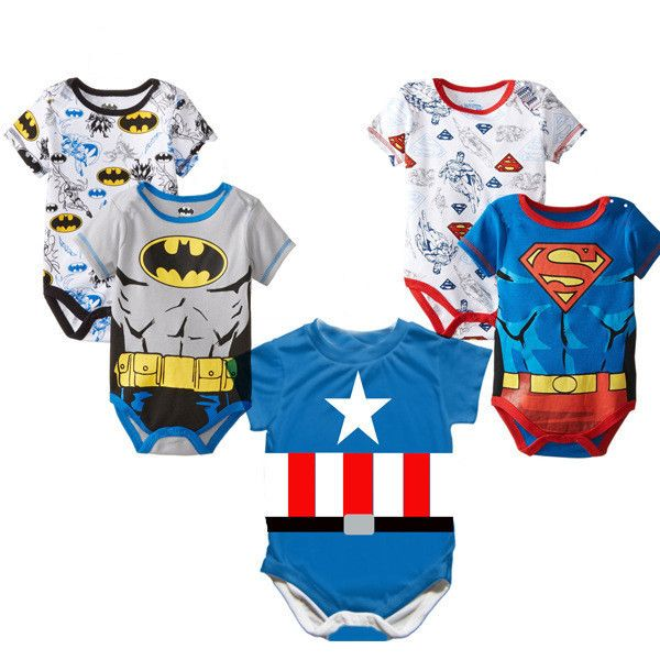 Superhero baby boy rompers 100%Cotton DC World Shop http://dcworldshop.com/2016-newborn-baby-boy-clothes-ropa-bebe-cotton-short-sleeve-superman-baby-rompers-baby-costume-batman-birthday-baby-body-clothes/    #suicidesquad #superhero #dcuniverse #bataman #superman