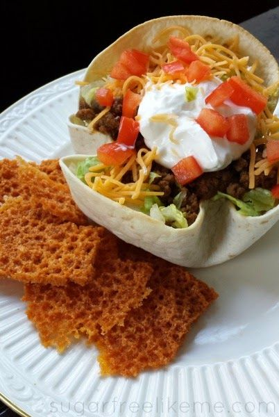 3 Ways to make Low Carb Taco Salad  -----Including how to make cheese chips and cheese taco shells in the microwave!!