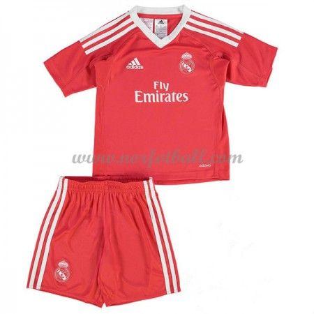 Billige Fotballdrakter Real Madrid Barn 2017-18 Keeper Borte Draktsett Fotball Kortermet