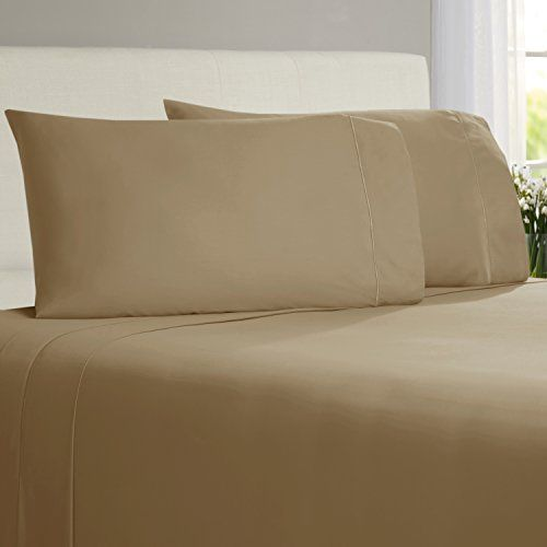 Chateau Home Collection 800-Thread-Count Egyptian Cotton Deep Pocket Sateen Weave King Sheet Set, Wheat //http://bestadjustablebed.us/product/chateau-home-collection-800-thread-count-egyptian-cotton-deep-pocket-sateen-weave-king-sheet-set-wheat/