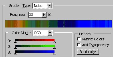 Photoshop graident - noise