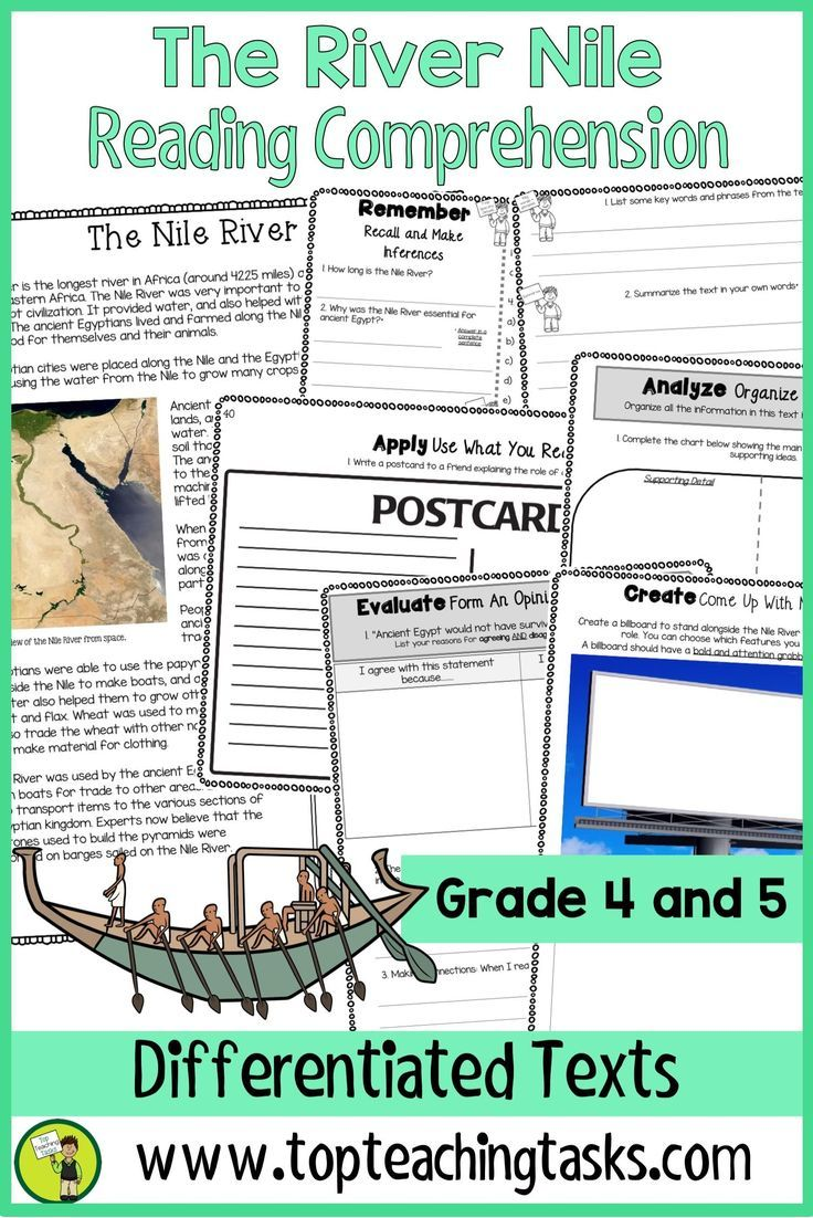 Ancient Egypt Reading Comprehension Passages And Activities 8211 The River Nile Reading Comprehension Reading Comprehension Passages Comprehension Passage [ 1102 x 736 Pixel ]