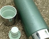 """Vintage Aladdin Stanley Thermos A-944C Green Made in USA, 1 Quart """"A 79, Industrial Thermos, Steam Punk"""" Date, Coffee Pot"""