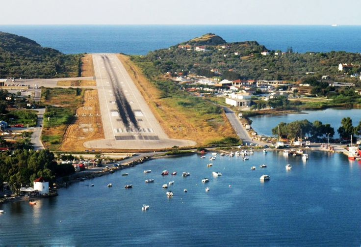 The approach to the airport in Skiathos, Greece. Not for the faint hearted!!