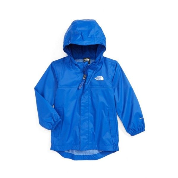 Toddler Boy's The North Face Tailout Waterproof/windproof Hooded Rain... ($36) ❤ liked on Polyvore featuring men's fashion, men's clothing, men's outerwear, men's jackets, bright cobalt blue, mens waterproof jacket, the north face mens jackets, mens hooded rain jacket, mens hooded jackets and mens windproof jacket