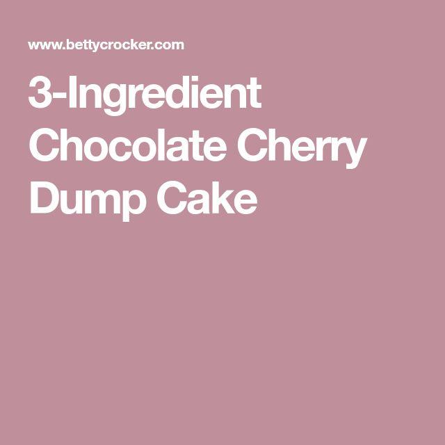 3-Ingredient Chocolate Cherry Dump Cake