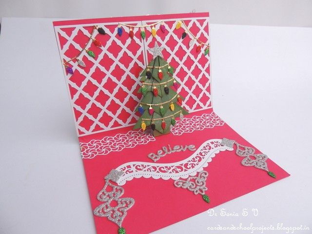 Pop Up Christmas Tree Card