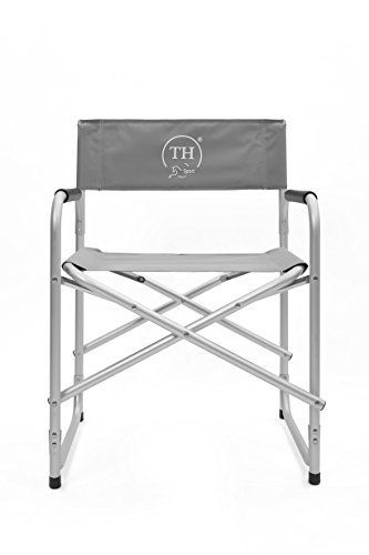 Trans Horse Sport Chaise pliante chaise de camping chaise Régie Avec Housse gris argent aluminium mat pour le camping, jardin, le sport et…