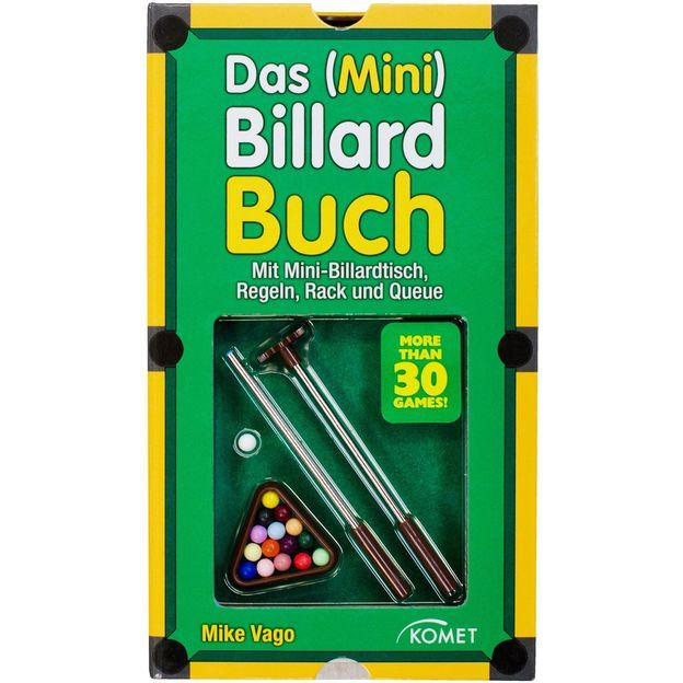 Billard Buch mit Mini-Billardtisch
