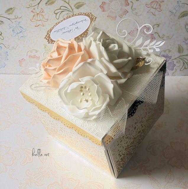 exploding box wedding, basket flowers, kartka ślub