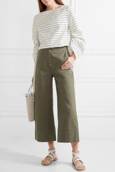 Tibi - Hallie Leather Sandals - Ivory - IT37.5
