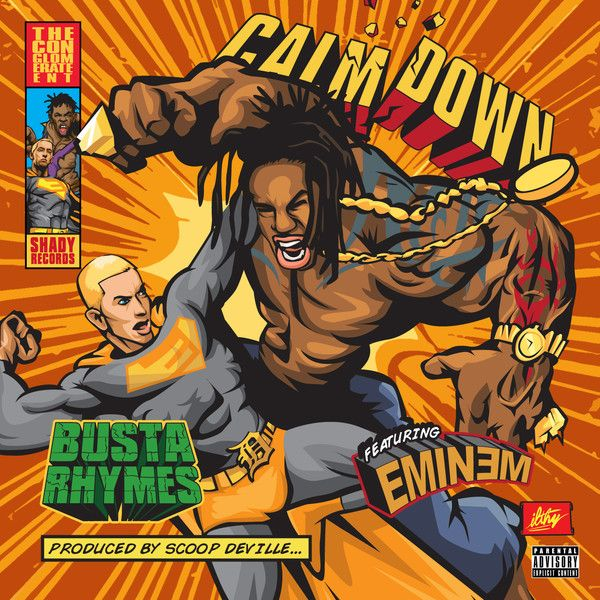 "New Music: ""Calm Down (feat. Eminem)"" by Busta Rhymes. #NowPlaying on http://LetsLoop.com/artist/busta-rhymes #Music"