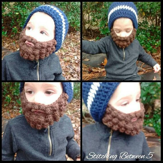 Baby beard beanie Baby beard hat Customizable by StitchingBetween5