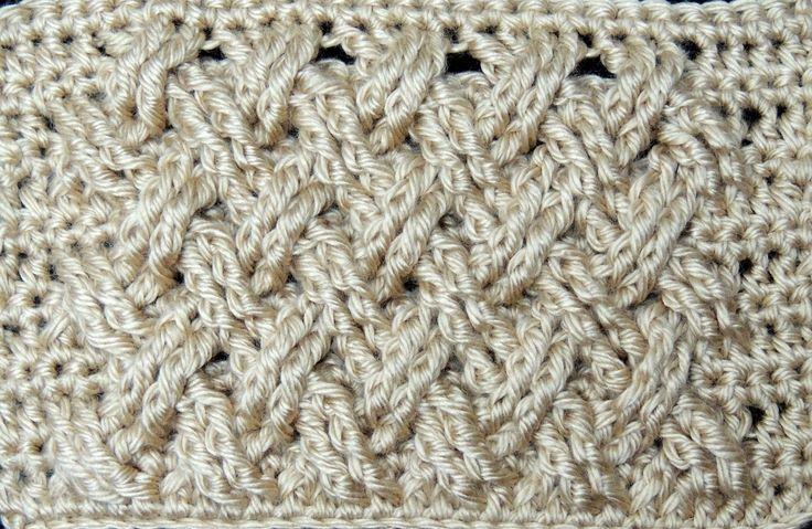 Crochet : Punto Entrecruzado Plano (+lista de reproducción)