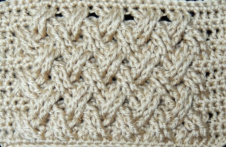Crochet : Punto Entrecruzado Plano  ༺✿ƬⱤღ  https://www.pinterest.com/teretegui/✿༻