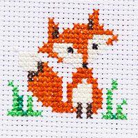 Cute Little Fox Free Cross Stitch Pattern Cross