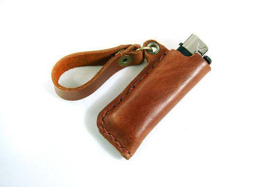 Leather Lighter Case Bic lighter case Bic case by SimpleFraction