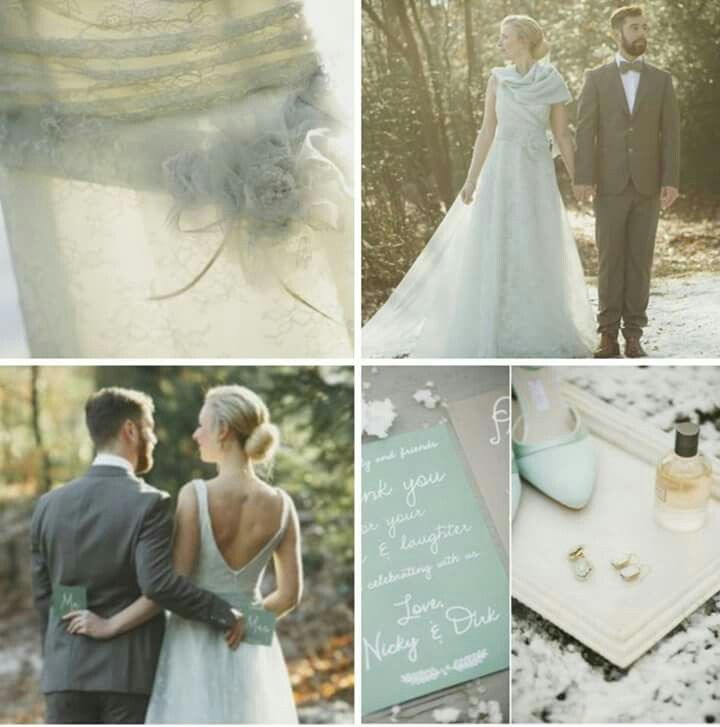Icing green winter wedding