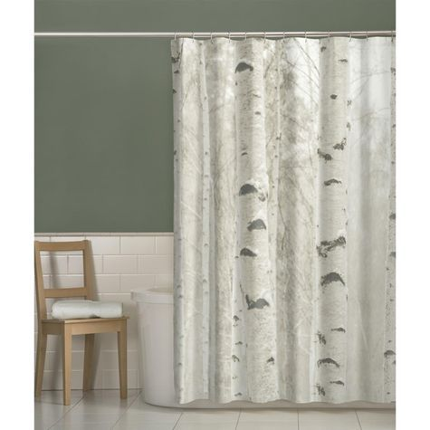 Add Nature To Your Bathroom With The Maytex Bark Fabric Shower Curtain.  Woods Inspired Scene In Neutral Earth Tones Buttonhole Construction Po