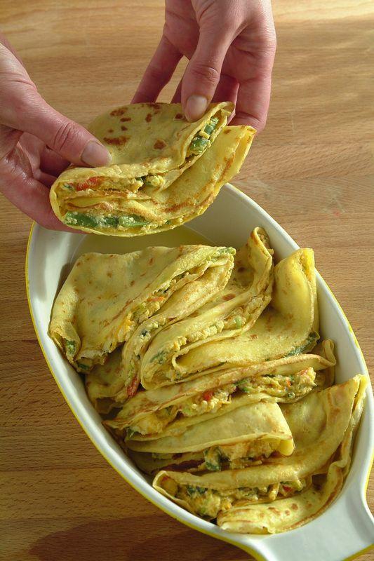 Una variante estiva alle tradizionali crespelle, leggere per il formaggio scelto e le verdure