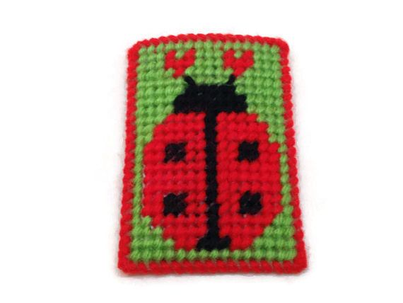 Ladybug Gift Card Holder, Plastic Canvas, Christmas Gift Card, Birthday Gift Card, Birthday Party Gift