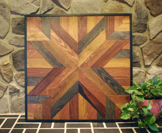 Reclaimed Wood Art, Reclaimed Wood, Reclaimed Wood Wall Art, Reclaimed Wood Decor, Wood Wall Decor, Wood Decor, Star Quit Design Wall Art