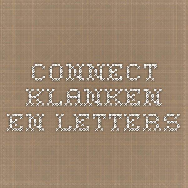 connect klanken en letters