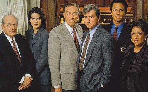 Law and Order...Stephen Hill, Angie Harmon, Jerry Orbach, Sam Waterston, Benjamin Bratt, S. Epatha Merkerson